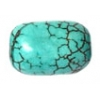 Turquoise 10x6mm Capsule Stabilized Green